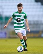 10 October 2020; Aaron Bolger of Shamrock Rovers II during the SSE Airtricity League First Division match between Shamrock Rovers II and Bray Wanderers at Tallaght Stadium in Dublin. Photo by Harry Murphy/Sportsfile