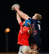 10 October 2020; Tadhg Beirne of Munster in action against Andrew Davidson of Edinburgh during the Guinness PRO14 match between Munster and Edinburgh at Thomond Park in Limerick. Photo by Ramsey Cardy/Sportsfile
