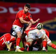 10 October 2020; Conor Murray of Munster during the Guinness PRO14 match between Munster and Edinburgh at Thomond Park in Limerick. Photo by Ramsey Cardy/Sportsfile