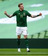 11 October 2020; James McClean of Republic of Ireland reacts during the UEFA Nations League B match between Republic of Ireland and Wales at the Aviva Stadium in Dublin. Photo by Stephen McCarthy/Sportsfile
