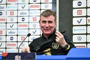 13 October 2020; Republic of Ireland manager Stephen Kenny during a Republic of Ireland press conference at Helsingin Olympiastadion in Helsinki, Finland. Photo by Jussi Eskola/Sportsfile