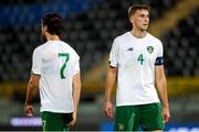 13 October 2020; Conor Masterson, right, and Zack Elbouzedi of Republic of Ireland following the UEFA European U21 Championship Qualifier match between Italy and Republic of Ireland at Arena Garibaldi in Pisa, Italy. Photo by Roberto Bregani/Sportsfile