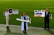 15 October 2020; currentaccount.ie are the new title sponsors of the All-Ireland Ladies Club Football Championships. currentaccount.ie will also sponsor the LGFA All-Ireland Club 7s and the LGFA's National Volunteer awards. In attendance to mark the new partnership are, from left to right, Kira Magennis, Head of SEPA Payments, Helen O'Rourke, LGFA CEO, and Seamus Newcombe, CEO currentaccount.ie, at Croke Park in Dublin. To find out more about Current Account from your Credit Union, visit https://currentaccount.ie/ Photo by Harry Murphy/Sportsfile