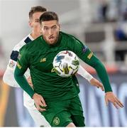 14 October 2020; Matt Doherty of Republic of Ireland during the UEFA Nations League B match between Finland and Republic of Ireland at Helsingin Olympiastadion in Helsinki, Finland. Photo by Mauri Forsblom/Sportsfile