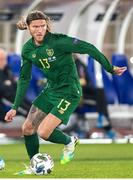 14 October 2020; Jeff Hendrick of Republic of Ireland during the UEFA Nations League B match between Finland and Republic of Ireland at Helsingin Olympiastadion in Helsinki, Finland. Photo by Mauri Forsblom/Sportsfile