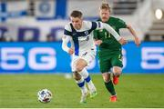 14 October 2020; Robert Taylor of Finland and Daryl Horgan of Republic of Ireland during the UEFA Nations League B match between Finland and Republic of Ireland at Helsingin Olympiastadion in Helsinki, Finland. Photo by Mauri Forsblom/Sportsfile