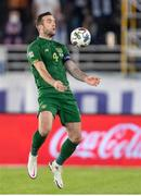 14 October 2020; Shane Duffy of Republic of Ireland during the UEFA Nations League B match between Finland and Republic of Ireland at Helsingin Olympiastadion in Helsinki, Finland. Photo by Mauri Forsblom/Sportsfile