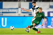 14 October 2020; Daryl Horgan of Republic of Ireland and Tim Sparv of Finland during the UEFA Nations League B match between Finland and Republic of Ireland at Helsingin Olympiastadion in Helsinki, Finland. Photo by Mauri Forsblom/Sportsfile