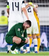 14 October 2020; Aaron Connolly of Republic of Ireland following the UEFA Nations League B match between Finland and Republic of Ireland at Helsingin Olympiastadion in Helsinki, Finland. Photo by Jussi Eskola/Sportsfile