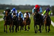 15 October 2020; Rosie Bassett, second from right, with Shane Foley up, on their way to winning the Irish Stallion Farms EBF Maiden at The Curragh Racecourse in Kildare. Photo by Seb Daly/Sportsfile