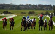 15 October 2020; Rosie Bassett, third from right, with Shane Foley up, on their way to winning the Irish Stallion Farms EBF Maiden at The Curragh Racecourse in Kildare. Photo by Seb Daly/Sportsfile