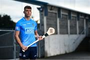 15 October 2020; Dublin Senior Hurler Chris Crummey in attendance at Parnell Park to help Dublin GAA and sponsors AIG Insurance to officially launch the new Dublin jersey. Photo by David Fitzgerald/Sportsfile