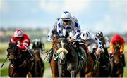 15 October 2020; Lustown Baba, centre, with Leigh Roche up, past the post to win the TRM Waterford Testimonial Stakes at The Curragh Racecourse in Kildare. Photo by Seb Daly/Sportsfile