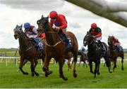 15 October 2020; Pretty Boy Floyd, centre, with Colin Keane up, on their way to winning the Equilux Scientifically Proven System Handicap at The Curragh Racecourse in Kildare. Photo by Seb Daly/Sportsfile