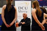 15 October 2020; In attendance at the Super League and Division One 2020/21 season launch is DCU Mercy head coach Mark Ingle. DCU Mercy will tip off their season in Trinity Sport against newly promoted Trinity Meteors on Saturday, 17th at 2pm. Belfast Star will have a new home this season in Lisburn Racquets. Their first game at the venue is due to be on November 28th, when they host UCD Marian in round 6. Photo by Brendan Moran/Sportsfile