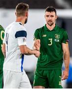 14 October 2020; Enda Stevens of Republic of Ireland following the UEFA Nations League B match between Finland and Republic of Ireland at Helsingin Olympiastadion in Helsinki, Finland. Photo by Mauri Fordblom/Sportsfile