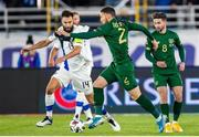 14 October 2020; Matt Doherty of Republic of Ireland in action against Tim Sparv of Finland during the UEFA Nations League B match between Finland and Republic of Ireland at Helsingin Olympiastadion in Helsinki, Finland. Photo by Mauri Fordblom/Sportsfile
