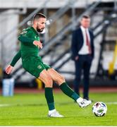 14 October 2020; Conor Hourihane of Republic of Ireland during the UEFA Nations League B match between Finland and Republic of Ireland at Helsingin Olympiastadion in Helsinki, Finland. Photo by Mauri Fordblom/Sportsfile