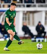 14 October 2020; Dara O'Shea of Republic of Ireland during the UEFA Nations League B match between Finland and Republic of Ireland at Helsingin Olympiastadion in Helsinki, Finland. Photo by Mauri Fordblom/Sportsfile