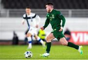 14 October 2020; Aaron Connolly of Republic of Ireland during the UEFA Nations League B match between Finland and Republic of Ireland at Helsingin Olympiastadion in Helsinki, Finland. Photo by Mauri Fordblom/Sportsfile
