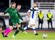 14 October 2020; Jeff Hendrick of Republic of Ireland during the UEFA Nations League B match between Finland and Republic of Ireland at Helsingin Olympiastadion in Helsinki, Finland. Photo by Mauri Fordblom/Sportsfile