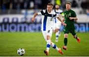 14 October 2020; Jere Uronen of Finland during the UEFA Nations League B match between Finland and Republic of Ireland at Helsingin Olympiastadion in Helsinki, Finland. Photo by Mauri Fordblom/Sportsfile
