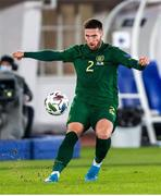 14 October 2020; Matt Doherty of Republic of Ireland during the UEFA Nations League B match between Finland and Republic of Ireland at Helsingin Olympiastadion in Helsinki, Finland. Photo by Mauri Fordblom/Sportsfile