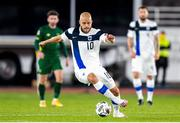 14 October 2020; Teemu Pukki of Finland during the UEFA Nations League B match between Finland and Republic of Ireland at Helsingin Olympiastadion in Helsinki, Finland. Photo by Mauri Fordblom/Sportsfile