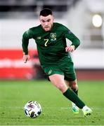 14 October 2020; Aaron Connolly of Republic of Ireland during the UEFA Nations League B match between Finland and Republic of Ireland at Helsingin Olympiastadion in Helsinki, Finland. Photo by Jussi Eskola/Sportsfile