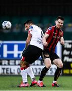 16 October 2020; Patrick Hoban of Dundalk in action against Michael Barker of Bohemians during the SSE Airtricity League Premier Division match between Dundalk and Bohemians at Oriel Park in Dundalk, Louth. Photo by Harry Murphy/Sportsfile