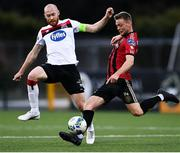 16 October 2020; Conor Levingston of Bohemians in action against Chris Shields of Dundalk during the SSE Airtricity League Premier Division match between Dundalk and Bohemians at Oriel Park in Dundalk, Louth. Photo by Harry Murphy/Sportsfile