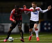 16 October 2020; Andre Wright of Bohemians in action against Sean Murray of Dundalk during the SSE Airtricity League Premier Division match between Dundalk and Bohemians at Oriel Park in Dundalk, Louth. Photo by Harry Murphy/Sportsfile
