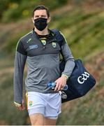 17 October 2020; David Moran of Kery arrives wearing a facemask prior to the Allianz Football League Division 1 Round 6 match between Monaghan and Kerry at Grattan Park in Inniskeen, Monaghan. Photo by Brendan Moran/Sportsfile