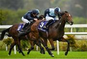 17 October 2020; Benaud, with Shane Crosse up, on their way to winning the Leopardstown Nursery Handicap at Leopardstown Racecourse in Dublin. Photo by Seb Daly/Sportsfile