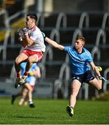 17 October 2020; Darragh Canavan of Tyrone in action against Josh Bannon of Dublin during the EirGrid GAA Football All-Ireland U20 Championship Semi-Final match between Dublin and Tyrone at Kingspan Breffni Park in Cavan. Photo by David Fitzgerald/Sportsfile