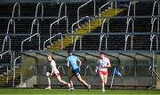 17 October 2020; An empty terrace and dugout is seen during the EirGrid GAA Football All-Ireland U20 Championship Semi-Final match between Dublin and Tyrone at Kingspan Breffni Park in Cavan. Photo by David Fitzgerald/Sportsfile