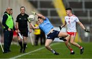 17 October 2020; Seán Lowry of Dublin in action against Matthew Murnaghan of Tyrone during the EirGrid GAA Football All-Ireland U20 Championship Semi-Final match between Dublin and Tyrone at Kingspan Breffni Park in Cavan. Photo by David Fitzgerald/Sportsfile