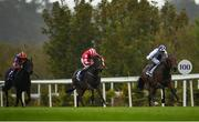 17 October 2020; Poetic Flare, right, with Kevin Manning up, on their way to winning the Killavullan Stakes at Leopardstown Racecourse in Dublin. Photo by Seb Daly/Sportsfile