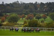 17 October 2020; A view of the field during the Leopardstown Members Club Maiden at Leopardstown Racecourse in Dublin. Photo by Seb Daly/Sportsfile