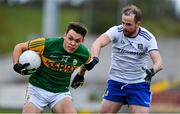 17 October 2020; David Clifford of Kerry in action against Conor Boyle of Monaghan during the Allianz Football League Division 1 Round 6 match between Monaghan and Kerry at Grattan Park in Inniskeen, Monaghan. Photo by Brendan Moran/Sportsfile