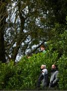 17 October 2020; Local spectators, wearing facemasks, watch the game through bushes during the Allianz Football League Division 1 Round 6 match between Monaghan and Kerry at Grattan Park in Inniskeen, Monaghan. Photo by Brendan Moran/Sportsfile