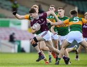 17 October 2020; Matthew Tierney of Galway in action against Luke Brosnan,left, and Alan Dineen of Kerry during the EirGrid GAA Football All-Ireland U20 Championship Semi-Final match between Kerry and Galway at the LIT Gaelic Grounds in Limerick. Photo by Matt Browne/Sportsfile