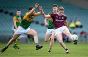 17 October 2020; Conor Raftery of Galway in action against Sean O'Connell of Kerry during the EirGrid GAA Football All-Ireland U20 Championship Semi-Final match between Kerry and Galway at the LIT Gaelic Grounds in Limerick. Photo by Matt Browne/Sportsfile