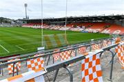 17 October 2020; Flags behind one of the goals before the Allianz Football League Division 2 Round 6 match between Armagh and Roscommon at the Athletic Grounds in Armagh. Photo by Piaras Ó Mídheach/Sportsfile