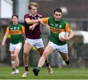 17 October 2020; Sean O'Connell of Kerry in action against Michael O'Gara of Galway during the EirGrid GAA Football All-Ireland U20 Championship Semi-Final match between Kerry and Galway at the LIT Gaelic Grounds in Limerick. Photo by Matt Browne/Sportsfile