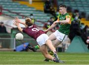 17 October 2020; Eddie Horan of Kerry in action against Cian Hernon of Galway during the EirGrid GAA Football All-Ireland U20 Championship Semi-Final match between Kerry and Galway at the LIT Gaelic Grounds in Limerick. Photo by Matt Browne/Sportsfile