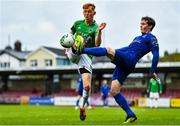 17 October 2020; Alec Byrne of Cork City in action against Will Fitzgerald of Waterford during the SSE Airtricity League Premier Division match between Cork City and Waterford at Turners Cross in Cork. Photo by Eóin Noonan/Sportsfile
