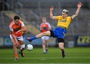 17 October 2020; Cathal Compton of Roscommon gets to the ball ahead of Niall Grimley of Armagh during the Allianz Football League Division 2 Round 6 match between Armagh and Roscommon at the Athletic Grounds in Armagh. Photo by Piaras Ó Mídheach/Sportsfile