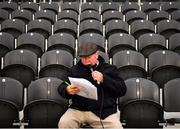 17 October 2020;  Páirc Ui Chaoimh stadium announcer Peter Dennehy during the Allianz Football League Division 3 Round 6 match between Cork and Louth at Páirc Ui Chaoimh in Cork. Photo by Harry Murphy/Sportsfile