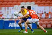 17 October 2020; Cathal Cregg of Roscommon in action against James Morgan of Armagh during the Allianz Football League Division 2 Round 6 match between Armagh and Roscommon at the Athletic Grounds in Armagh. Photo by Piaras Ó Mídheach/Sportsfile